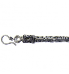 Collier homme snake argent